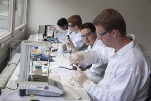 Eine Gruppe befasste sich mit Experimenten aus der Nanotechnologie.
