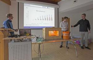 Unser Bild entstand bei der Präsentation eines autonomen bzw. automatisierten Gewächshauses.