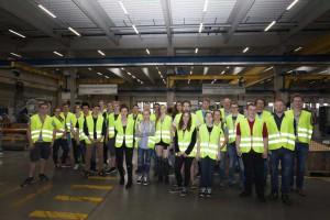 Eine Besuchergruppe des Programms MINToringSi informierte sich kürzlich bei Bombardier in Netphen-Dreis-Tiefenbach über die Bedeutung der Ingenieurberufe.